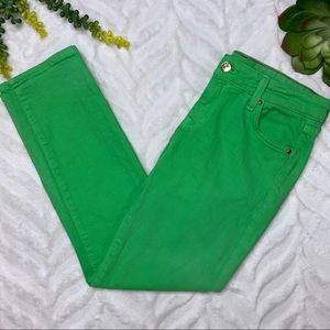 Kate Spade Perry Street Denim Crops Sprout Green